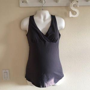 3 for $12 🍁  Grey Maternity/Nursing Tank Top